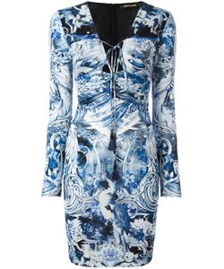 Roberto Cavalli | Multi-Print Fitted Dress