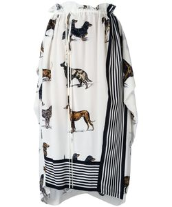 Stella Mccartney | Dog Print Skirt 38 Silk