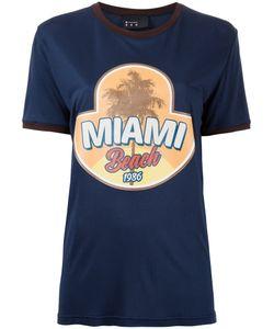 N Duo   Футболка С Принтом Miami Beach