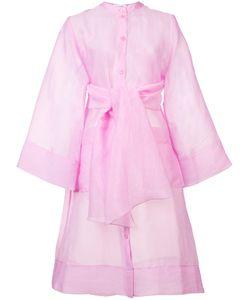 RODEBJER | Chiffon Tie-Waist Kimono Xs Silk/Polyimide