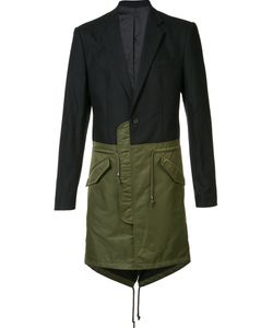 D-GNAK   Однобортное Пальто Колор-Блок