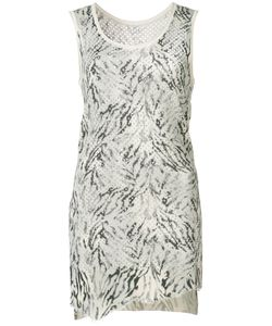 Victor Alfaro | Zebra Print Knitted Tank Xs Silk/Cashmere
