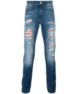 Alexander McQueen | Distressed Slim-Fit Jeans 50 Cotton