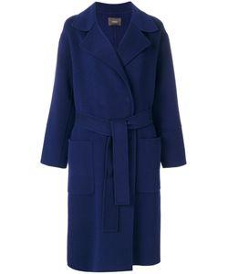 Odeeh   Belted Wrap Coat Women