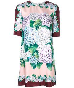 Dolce & Gabbana   Платье С Рисунком Из Гортензий