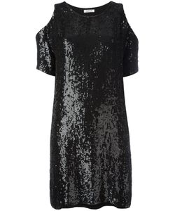 P.A.R.O.S.H. | Cold Shoulder Sequin Dress Viscose/Pvc
