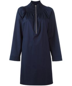 Cedric Charlier | Cédric Charlier Elasticated Collar Shift Dress 44 Cotton/Other