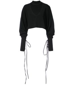 Solace | Oversized Cropped Cut Out Shirt Women