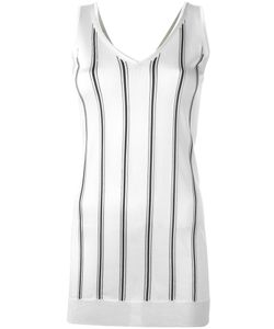Lanvin | V-Neck Stripe Top Small Viscose
