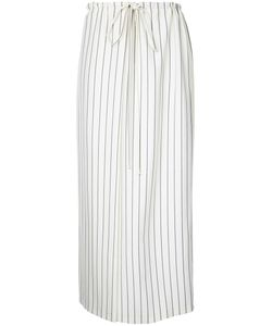 Jil Sander | Striped Drawstring Waist Skirt