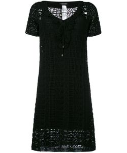 Twin-set | Crochet Mini Dress Large Viscose/Polyamide