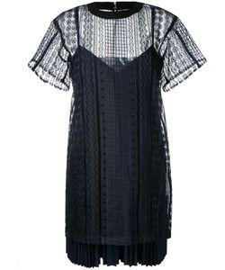 Sacai | Многослойное Платье С Вышивкой