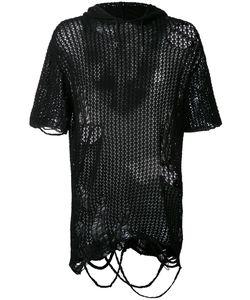 Maison Mihara Yasuhiro | Distressed Knit Hoodie Size 46