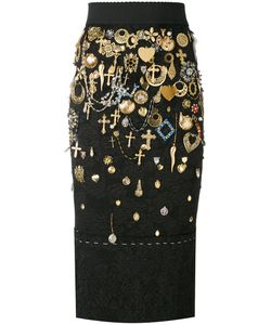 Dolce & Gabbana | Cross Charm Embellished Skirt