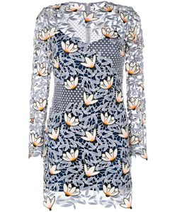 SELF-PORTRAIT | Patchwork Mini Dress 10 Polyester/Spandex/Elastane