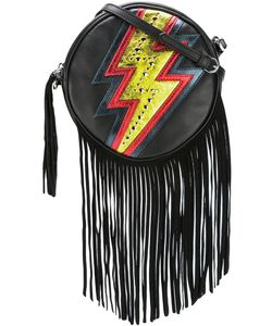 Just Cavalli | Lightning Print Crossbody Bag Calf Leather/Suede