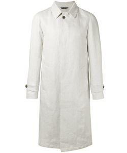 HEVO | Single Breasted Coat 50 Linen/Flax/Acetate/Viscose/Nylon