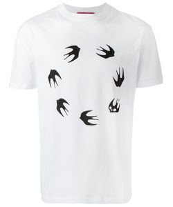 Mcq Alexander Mcqueen | Swallow Print T-Shirt Small Cotton