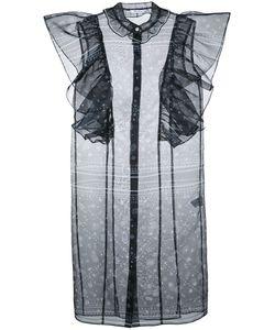 FLEAMADONNA | Ruffled Paisley-Print Blouse Size Medium