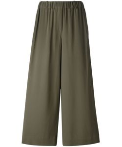 Incotex | Elasticated Waistband Cropped Trousers 44 Acetate/Silk