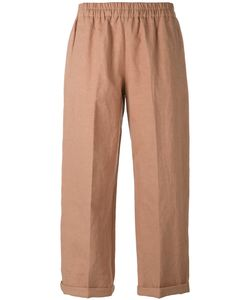 Forte Forte | Cropped Trousers Ii Linen/Flax/Cotton