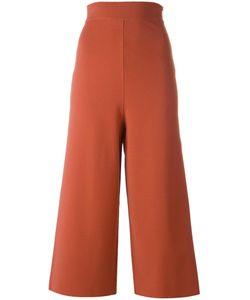 Stella Mccartney | Cropped Wide Leg Trousers 36 Viscose/Polyester
