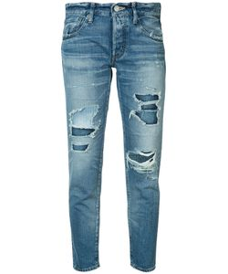 Moussy | Distressed Cropped Jeans Size 27