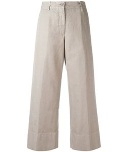 Aspesi | Cropped Trousers 42 Cotton/Linen/Flax