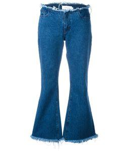 Marques Almeida   Marquesalmeida Frayed Fla Jeans 8 Cotton