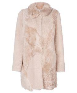 Drome | Furry Detail Buttoned Up Coat