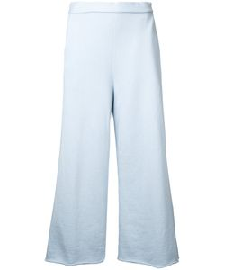 Cityshop | Wide-Leg Cropped Trousers Cotton