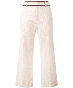 Jour/Né | Seersucker Cropped Trousers 34
