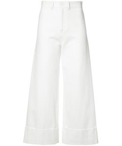 Sea | Cuffed Flare Trousers 2 Cotton