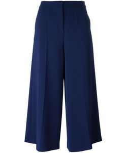 BOUTIQUE MOSCHINO | Wide-Legged Cropped Trousers 38 Polyester/Triacetate