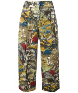 Antonio Marras | Printed Cropped Trousers 40 Cotton