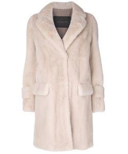 Blancha   Flap Pockets Fur Coat