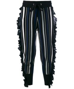 3.1 Phillip Lim | Frill Trim Striped Trousers Size