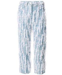 FAUSTINE STEINMETZ   Handwoven Loop Cropped Jeans Women