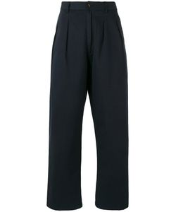 UNIVERSAL WORKS | Double Pleat Straight Trousers 32 Cotton