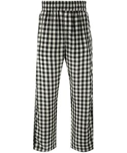 OFF-WHITE | Checked Loose-Fit Trousers Small Cupro