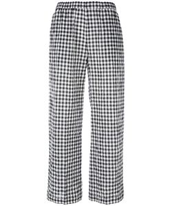 Aspesi | Checked Cropped Trousers 40 Cotton/Polyurethane