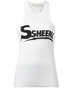 SSHEENA   Logo Print Vest Size Medium