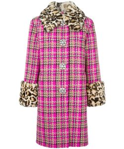 Marc Jacobs | Checked Tweed Coat 0 Silk/Nylon/Virgin Wool/Rabbit