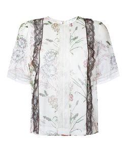 Giambattista Valli | Рубашка С Цветочным Узором И Кружевной Отделкой