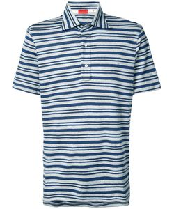 Isaia | Striped Polo Top L