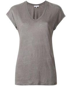 Iro | V-Neck T-Shirt Small Linen/Flax