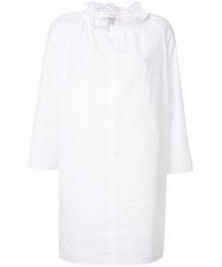 ATLANTIQUE ASCOLI | Ruffled Neck Shift Dress 1 Cotton/Linen/Flax