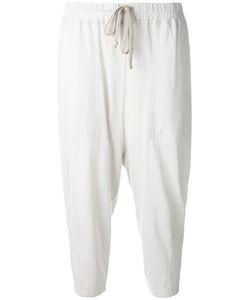 RICK OWENS DRKSHDW | Drawstring Cropped Sweatpants Size Small