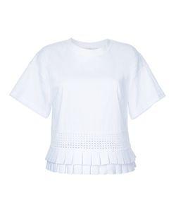 CAPUCCI   Frill-Hem Blouse Medium Cotton/Polyamide/Spandex/Elastane