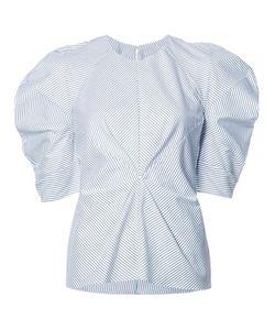 ROKSANDA   Striped Structu Blouse 12 Cotton